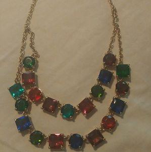 EUC Kate Spade multicolor gemstone necklace